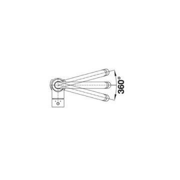 Baterie pentru bucatarie BLANCO MIDA-S GRI PERLAT cu dus extractibil, Monocomanda Cod produs: 521463. Poza 2