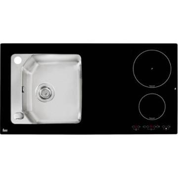 poza Chiuveta bucatarie Teka Premium Line Compact Lux 1000.520 1B 2I, Plita electrica integrata cu 2 zone inductie, touch control, timer, functie Power, functie Low temp, putere nominala 3.200 W