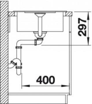Chiuveta bucatarie BLANCO METRA 45 S Compact SILGRANIT ANTRACIT fara exc. 519561