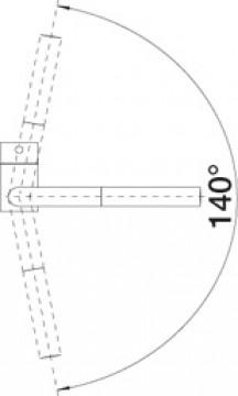 Baterie Bucatarie BLANCO LINUS-S SILGRANIT GRI PIATRA 518813