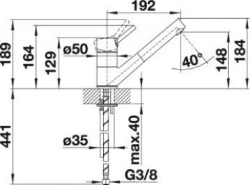Baterie Bucatarie BLANCO ANTAS-S SILGRANIT TRUFE/CROM 517637