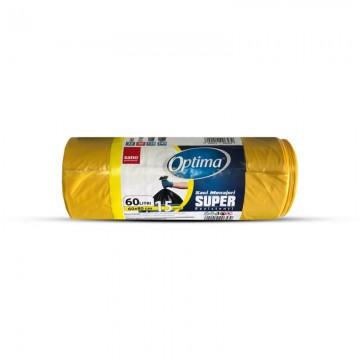 poza Saci menaj Sushi Optima Super 60L 60x80cm galben 15buc