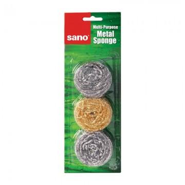 poza Burete vase inox Sano Sushi Metal Sponge 3buc/set